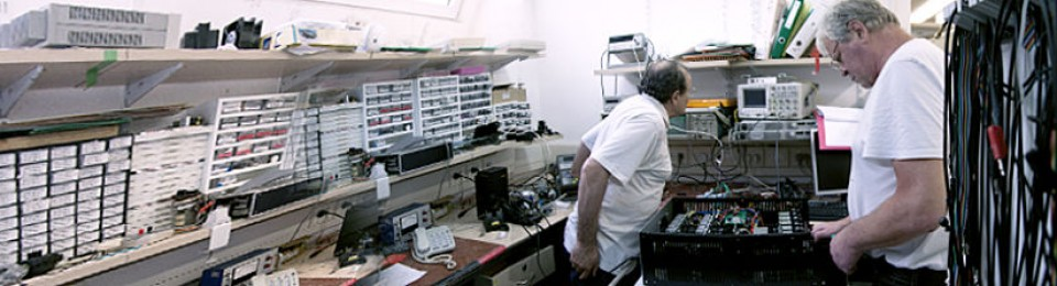 Two researchers in the lab