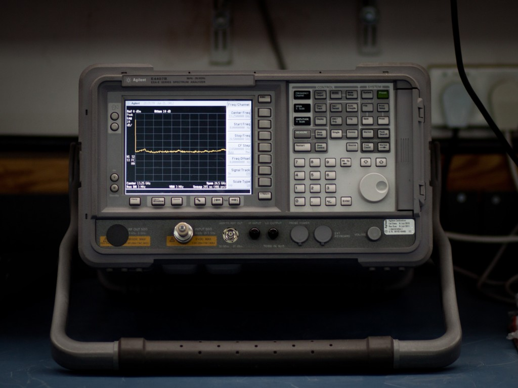 The Spectrum Analyzer measures and analyzes the spectrum of signals from 19kHz up to 40GHz